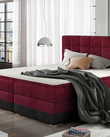 Dalino 180 čalúnená manželská posteľ s úložným priestorom bordová