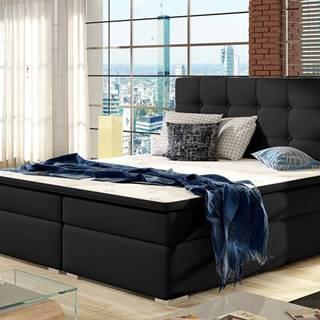 Isola 180 čalúnená manželská posteľ čierna (Soft 11)