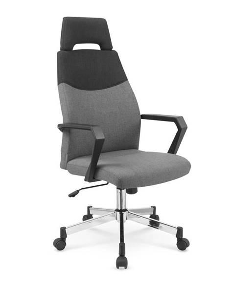 Halmar Olaf kancelárska stolička s podrúčkami sivá