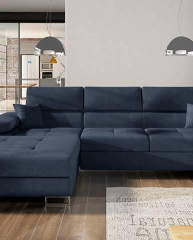 Alkazar L rohová sedačka s rozkladom a úložným priestorom modrá (Soro 76)