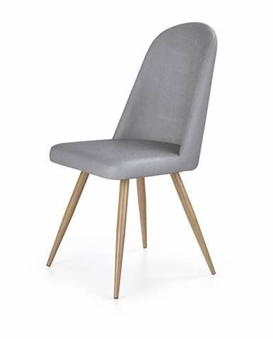 K214 jedálenská stolička sivá