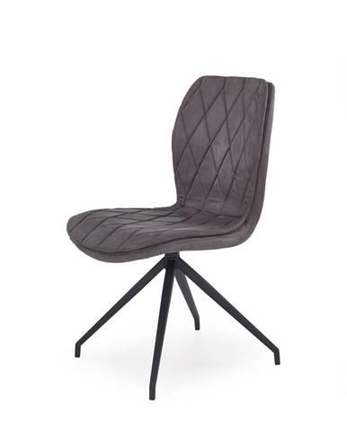 K237 jedálenská stolička sivá