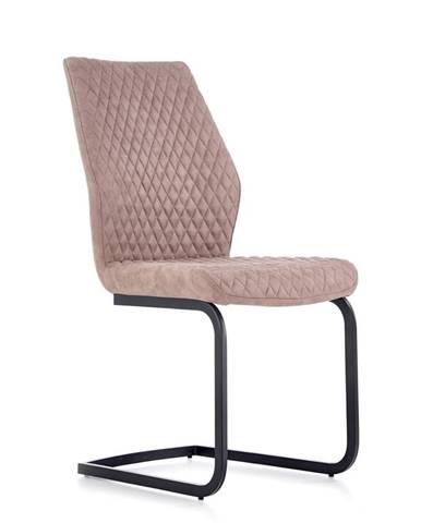 K272 jedálenská stolička tmavá béžová
