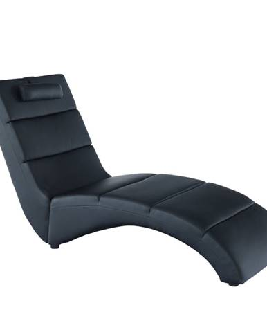 Long relaxačné kreslo čierna