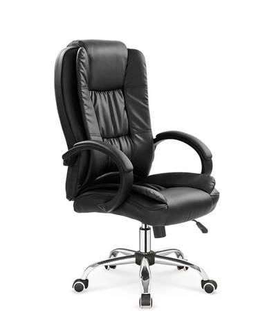 Relax kancelárske kreslo s podrúčkami čierna