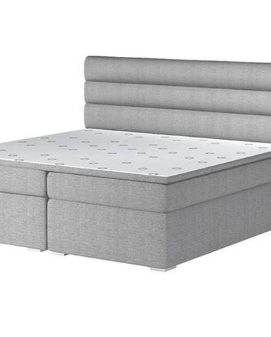 Spezia 140 čalúnená manželská posteľ s úložným priestorom svetlosivá (Orinoco 21)
