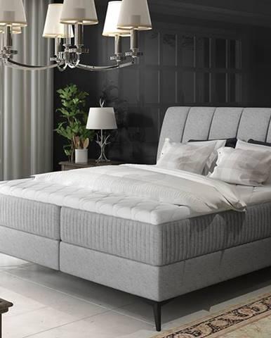 Altama 180 čalúnená manželská posteľ s úložným priestorom svetlosivá (Gusto 88)