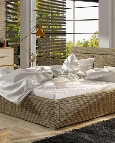 Branco 200 čalúnená manželská posteľ s roštom cappuccino