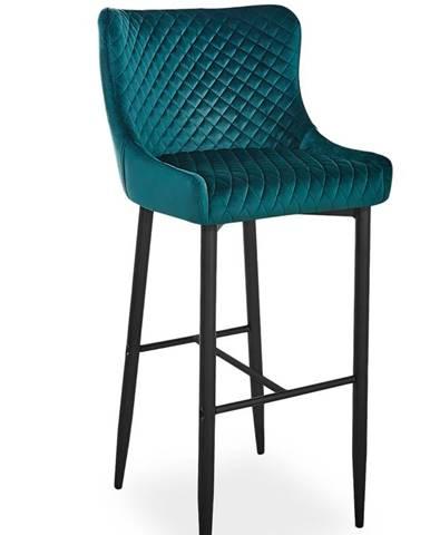 Colin B Velvet H-1 barová stolička zelená