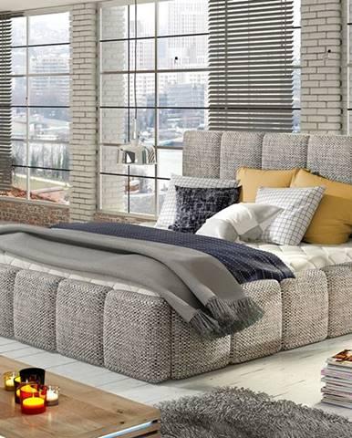 Evora 140 čalúnená manželská posteľ sivá (Berlin 01)