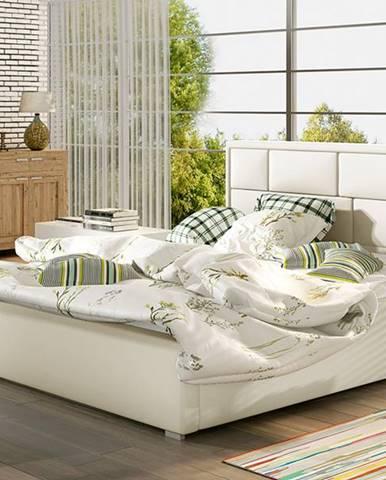Liza 140 čalúnená manželská posteľ s roštom béžová