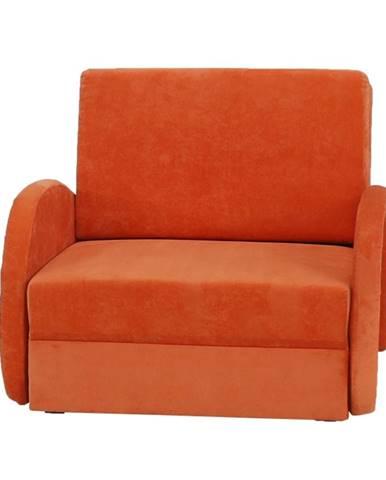Mili 1 rozkladacie kreslo s úložným priestorom oranžová