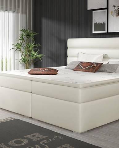 Spezia 180 čalúnená manželská posteľ s úložným priestorom béžová