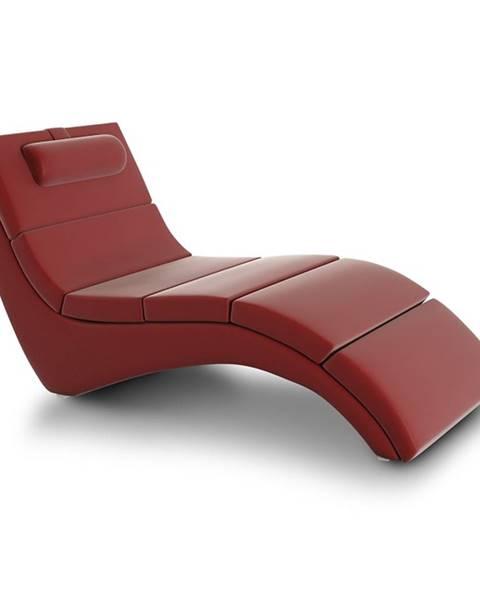 Tempo Kondela Long relaxačné kreslo červená