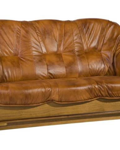 Parys kožená trojsedačka drevo D3