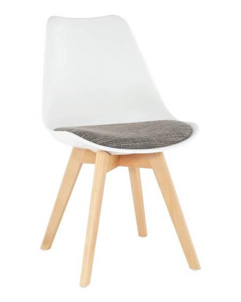 Kondela Damara jedálenská stolička biela
