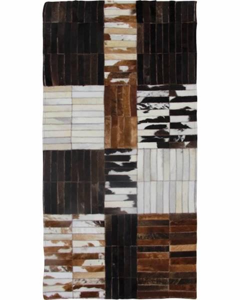 Kondela Typ 4 kožený koberec 69x140 cm vzor patchwork