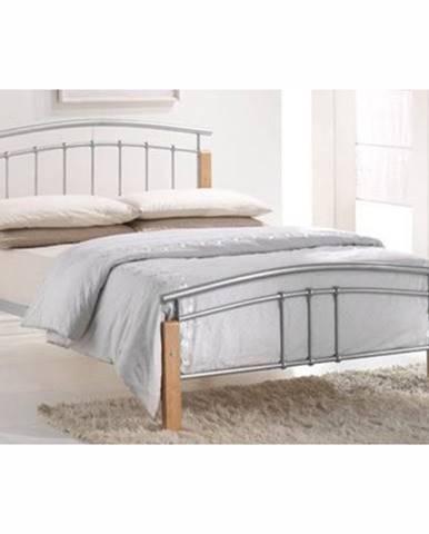 Mirela 180 kovová manželská posteľ s roštom prírodná