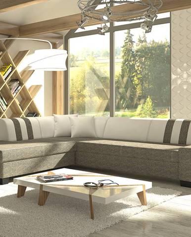 Pinero II L rohová sedačka s rozkladom a úložným priestorom sivá (Berlin 01)