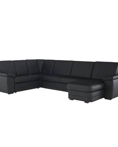 Biter U L rohová sedačka u s rozkladom a úložným priestorom čierna