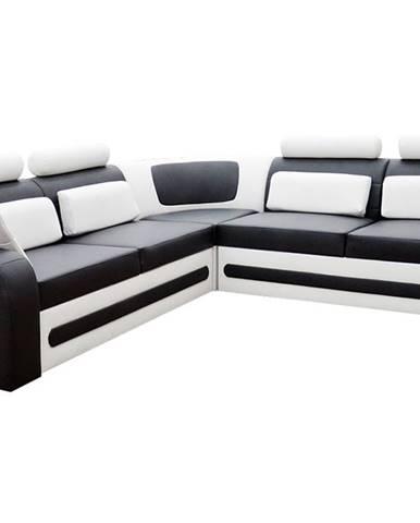 Bolzano P rohová sedačka s rozkladom a úložným priestorom čierna (Soft 11)