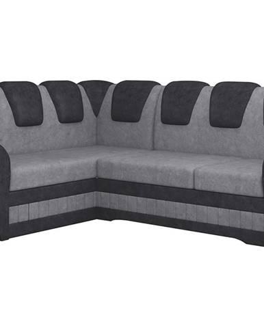 Latino II L rohová sedačka s rozkladom a úložným priestorom sivá