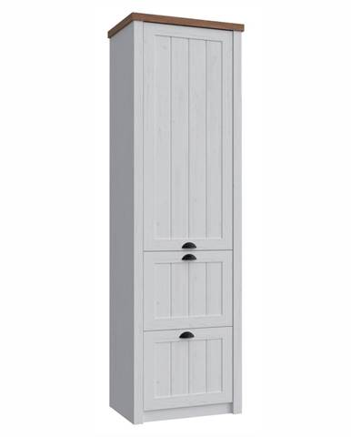 Provance S1D2S jednodverová šatníková skriňa sosna andersen