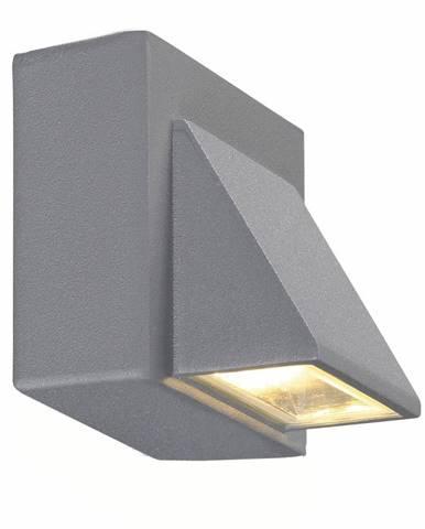 Sivé nástenné svietidlo Markslöjd Carina, 8x7,5cm