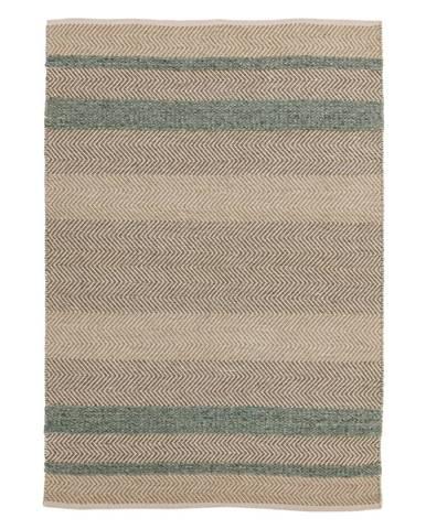 Hnedo-tyrkysový koberec Asiatic Carpets Fields, 160 x 230 cm