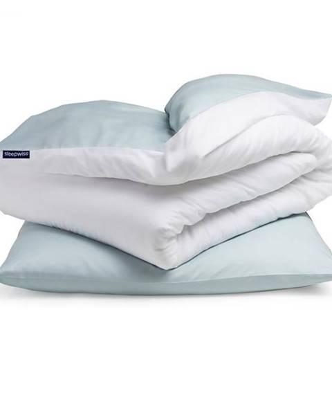 Sleepwise Sleepwise Soft Wonder-Edition, posteľná bielizeň, modrosivá/biela, 135 x 200 cm, 80 x 80 cm