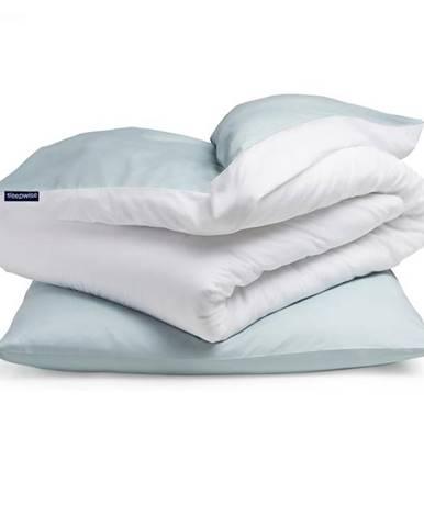 Sleepwise Soft Wonder-Edition, posteľná bielizeň, 135x200cm, modro sivá/biela