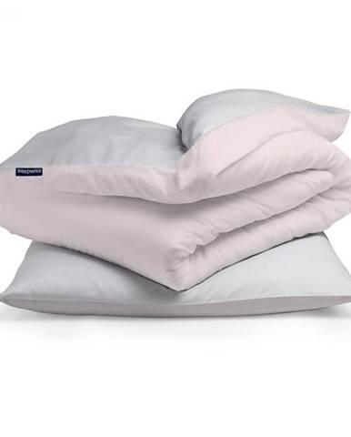 Sleepwise Soft Wonder-Edition, posteľná bielizeň, 135x200cm, svetlo sivá/ružová