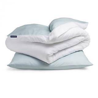 Sleepwise Soft Wonder-Edition, posteľná bielizeň, modrosivá/biela, 135 x 200 cm, 80 x 80 cm