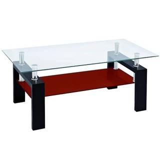 Konferenčný stolík Lena čierna-červená Tl-D3 Br