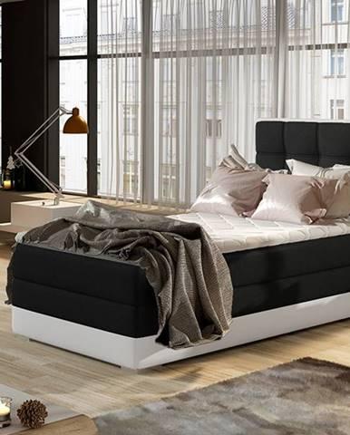 Alessandra 90 L čalúnená jednolôžková posteľ čierna
