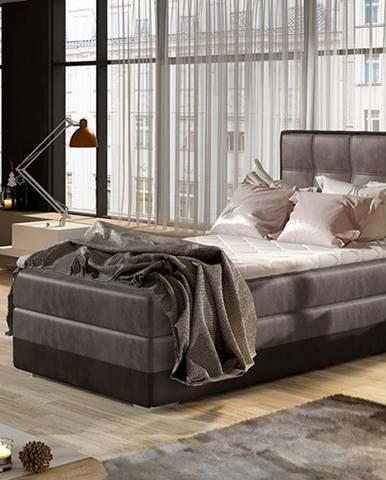 Alessandra 90 L čalúnená jednolôžková posteľ hnedá