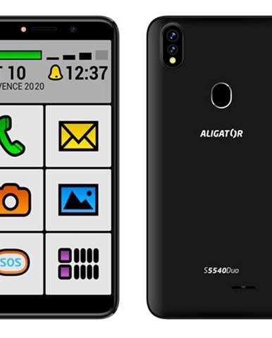 Mobilný telefón Aligator S5540KS 2GB/32GB, Kids+Senior, čierny