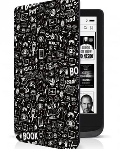 Puzdro Connect IT pre PocketBook 616/627/632, doodle čierne