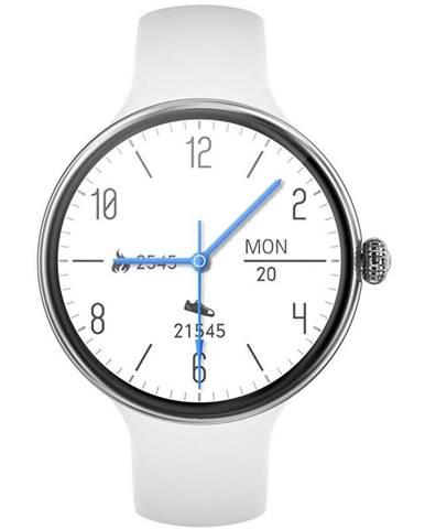 Inteligentné hodinky Immax Lady Music Fit strieborné