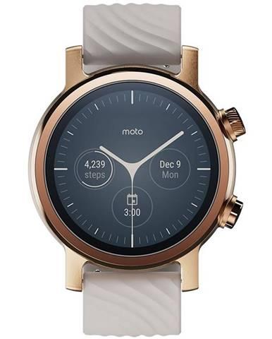 Inteligentné hodinky Motorola Moto 360 3. generace zlatá