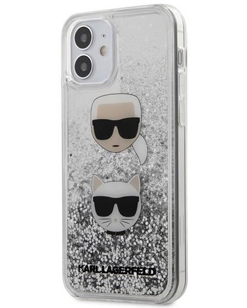 Karl Lagerfeld Kryt na mobil Karl Lagerfeld Liquid Glitter 2 Heads na Apple iPhone