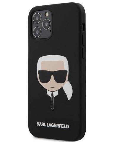 Kryt na mobil Karl Lagerfeld Head na Apple iPhone 12/12 Pro čierny