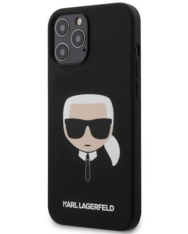 Kryt na mobil Karl Lagerfeld Head na Apple iPhone 12 Pro Max čierny