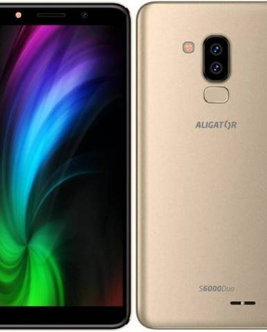 Mobilný telefón Aligator S6000 Dual SIM zlatý