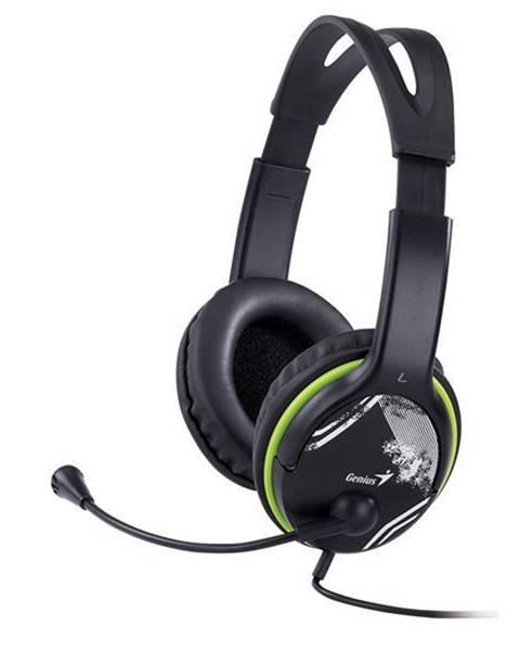 Genius Headset  Genius HS-400A čierny/zelený