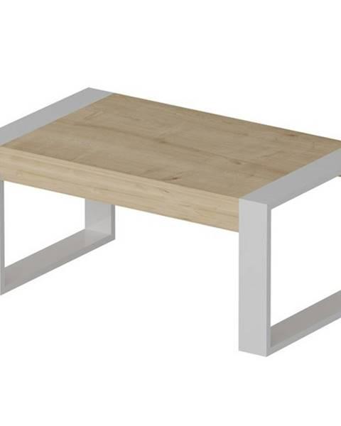 Sconto Konferenčný stolík RETRO dub/biela