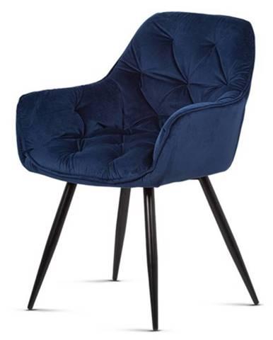Jedálenská stolička ELIZABETH modrá/čierna