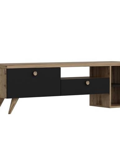 TV stolík PARION čierna/dub