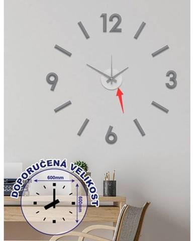 Nástenné hodiny - H17, 50 cm, sivá