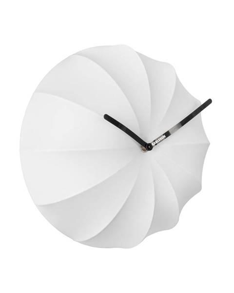 Karlsson Biele nástenné hodiny Karlsson Stretch, ø 40 cm